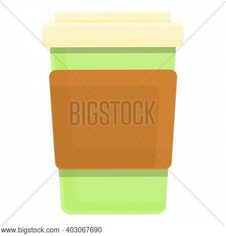 Biodegradable Plastic Coffee Cup Icon. Cartoon Of Biodegradable Plastic Coffee Cup Vector Icon For W