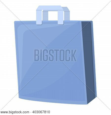 Biodegradable Plastic Shop Bag Icon. Cartoon Of Biodegradable Plastic Shop Bag Vector Icon For Web D