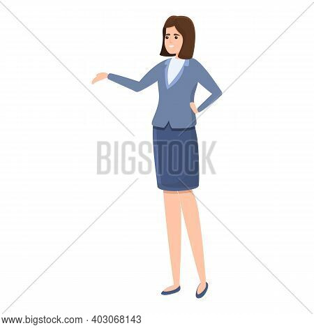 Sexy Woman Agent Icon. Cartoon Of Sexy Woman Agent Vector Icon For Web Design Isolated On White Back