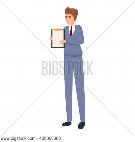 Ready Agent Icon. Cartoon Of Ready Agent Vector Icon For Web Design Isolated On White Background