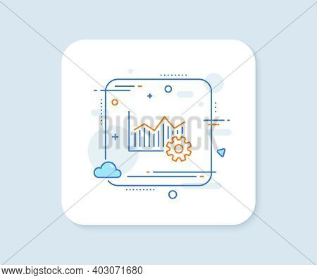 Operational Excellence Line Icon. Abstract Square Vector Button. Cogwheel Sign. Operational Excellen