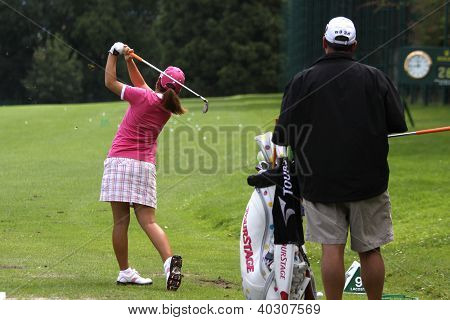 Song Hee Kim  (KOR) at Evian Masters golf cup 2011