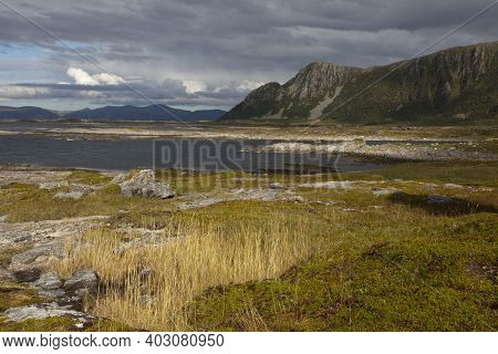 Vesteralen Islands / Norway - August 31, 2017: Vesteralen Costal Landscape, Vesterålen, Nordland, No