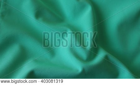 Fabric Material Background With A Delicate Soft Surface And Light Rough Texture With Elegant Waves O