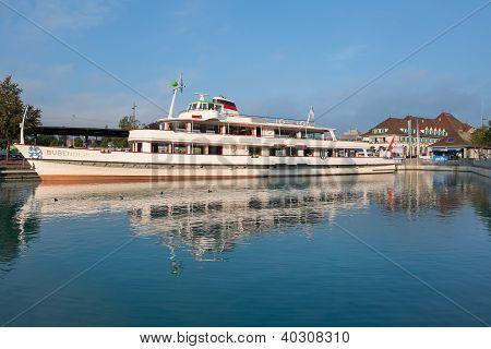 Passenger Ship Bubenger At The Berth In Thun