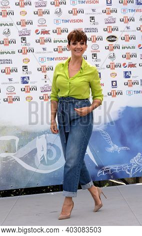 Giffoni Valle Piana, Sa, Italy - July 24, 2019 : Lucia Ocone At Giffoni Film Festival 2019 - On July