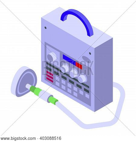 Hospital Ventilator Icon. Isometric Of Hospital Ventilator Vector Icon For Web Design Isolated On Wh