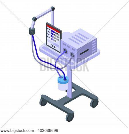 Intensive Care Ventilator Icon. Isometric Of Intensive Care Ventilator Vector Icon For Web Design Is