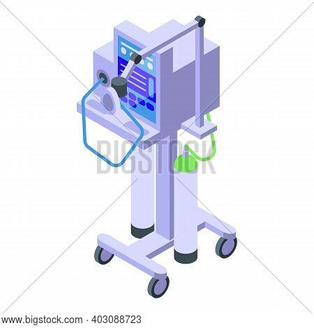 Medical Ventilator Machine Icon. Isometric Of Medical Ventilator Machine Vector Icon For Web Design