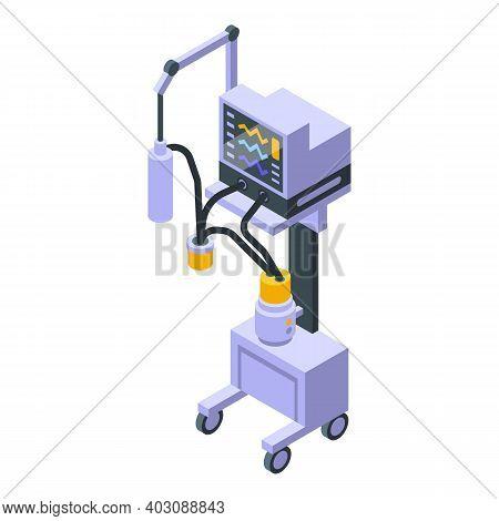 Medical Equipment Ventilator Icon. Isometric Of Medical Equipment Ventilator Vector Icon For Web Des