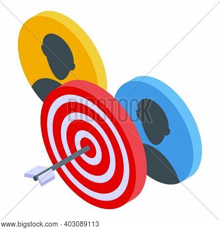 Candidate Target Icon. Isometric Of Candidate Target Vector Icon For Web Design Isolated On White Ba