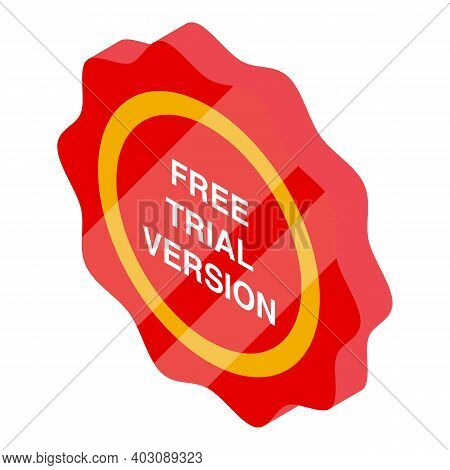 Free Version Icon. Isometric Of Free Version Vector Icon For Web Design Isolated On White Background