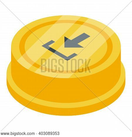 Demo Button Icon. Isometric Of Demo Button Vector Icon For Web Design Isolated On White Background