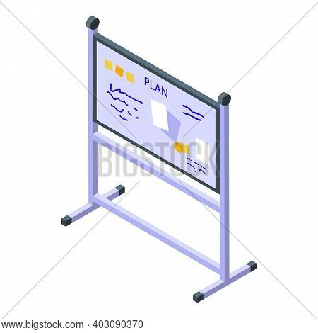 Event Plan Board Icon. Isometric Of Event Plan Board Vector Icon For Web Design Isolated On White Ba