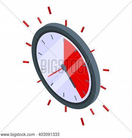 Deadline Problem Solve Icon. Isometric Of Deadline Problem Solve Vector Icon For Web Design Isolated