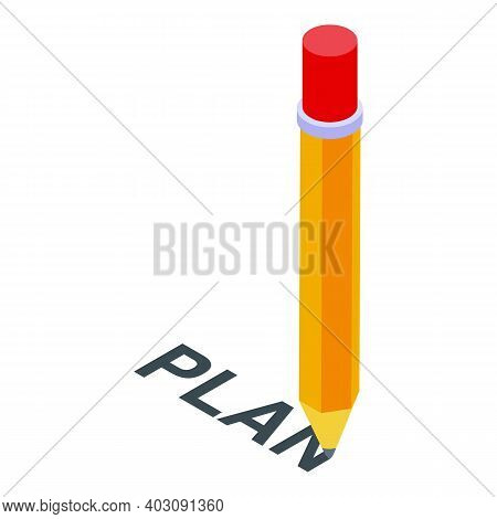 Problem Solving Plan Icon. Isometric Of Problem Solving Plan Vector Icon For Web Design Isolated On