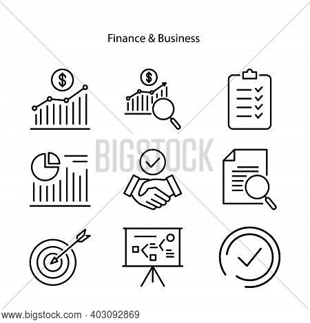 Set Of Finance Icon Isolated On White Background From Finance And Business Collection. Finance Icon