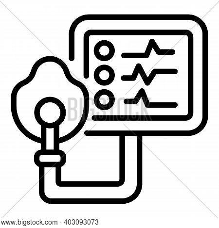 Computer Ventilator Medical Machine Icon. Outline Computer Ventilator Medical Machine Vector Icon Fo