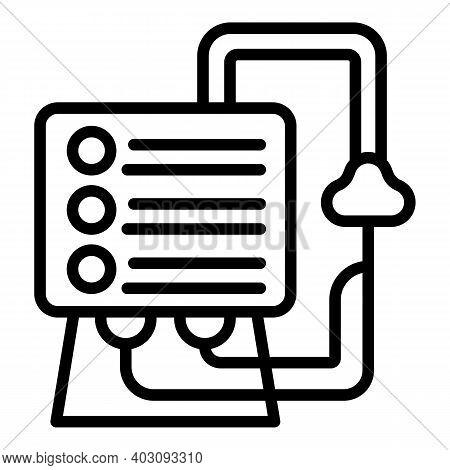 Healthcare Ventilator Medical Machine Icon. Outline Healthcare Ventilator Medical Machine Vector Ico