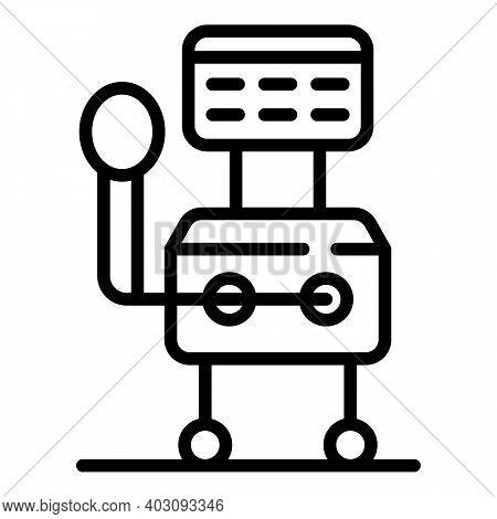 Intensive Ventilator Medical Machine Icon. Outline Intensive Ventilator Medical Machine Vector Icon
