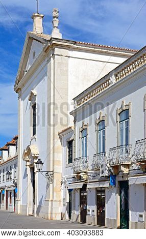 Vila Real De Santo Antonio, Portugal - June 11, 2017 - View Of The Church In The Marquis Of Pombal S
