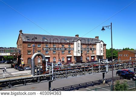 Burton-upon-trent, Uk - May 14, 2018 - The Old Midland Railway Grain Warehouse Number 2 Building, No