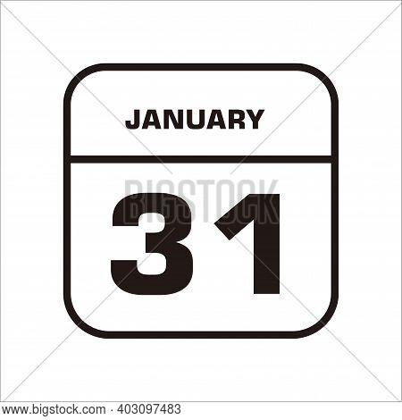 Calendar Icon 31 Isolated On White Background, Calendar Icon Vector Flat Modern, Calendar Icon, Cale