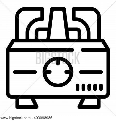 Small Gas Stove Icon. Outline Small Gas Stove Vector Icon For Web Design Isolated On White Backgroun