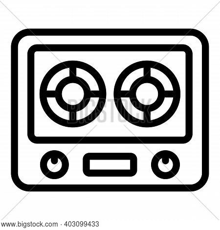 Warm Gas Stove Icon. Outline Warm Gas Stove Vector Icon For Web Design Isolated On White Background