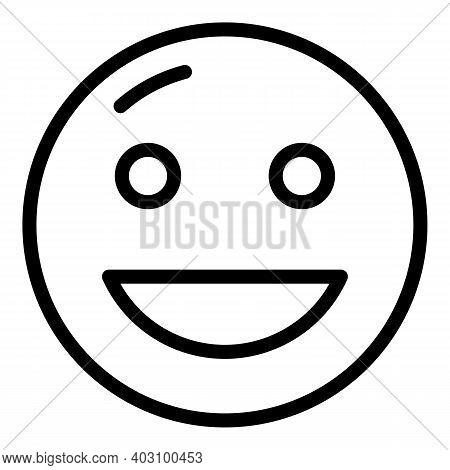 Joke Emoji Icon. Outline Joke Emoji Vector Icon For Web Design Isolated On White Background
