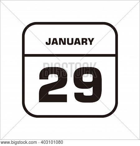 Calendar Icon 29 Isolated On White Background, Calendar Icon Vector Flat Modern, Calendar Icon, Cale