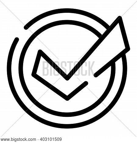 Business Collaboration Approved Icon. Outline Business Collaboration Approved Vector Icon For Web De