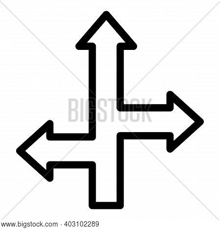 Arrows Direction Icon. Outline Arrows Direction Vector Icon For Web Design Isolated On White Backgro