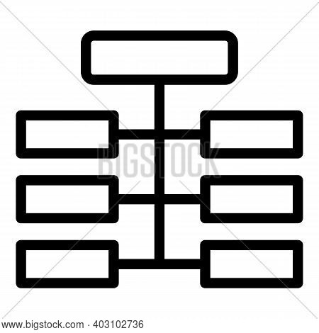 Hierarchy Structure Icon. Outline Hierarchy Structure Vector Icon For Web Design Isolated On White B