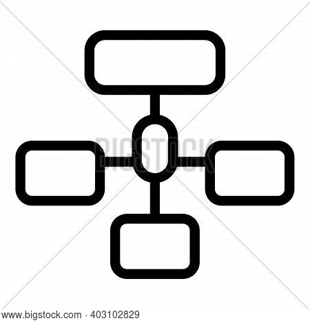Hierarchy Network Icon. Outline Hierarchy Network Vector Icon For Web Design Isolated On White Backg