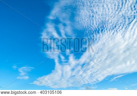 Sky background, picturesque vast sky landscape panoramic scene with dramatic pink clouds. Sky landscape. Sky background. Dramatic blue sky background, vast sky landscape panoramic scene, sunny sky landscape view. Blue sky background, vast sky landscape