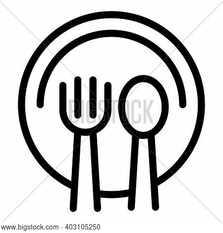Cutlery Food Icon. Outline Cutlery Food Vector Icon For Web Design Isolated On White Background