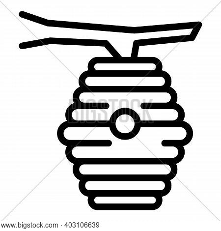 Beehive Icon. Outline Beehive Vector Icon For Web Design Isolated On White Background