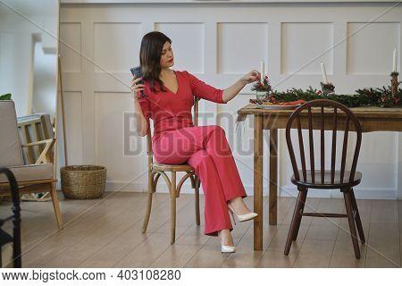 Sad Glamorous Woman Having No Fun At Party. Upset Girl Feeling Depressed Attending A Social Gatherin