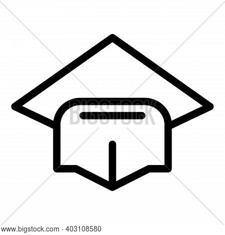 Academic Hat Icon. Outline Academic Hat Vector Icon For Web Design Isolated On White Background