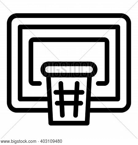 Basketball Hoop Icon. Outline Basketball Hoop Vector Icon For Web Design Isolated On White Backgroun