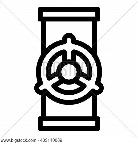 Pipe Tube Icon. Outline Pipe Tube Vector Icon For Web Design Isolated On White Background