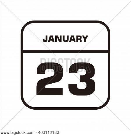 Calendar Icon 23 Isolated On White Background, Calendar Icon Vector Flat Modern, Calendar Icon, Cale
