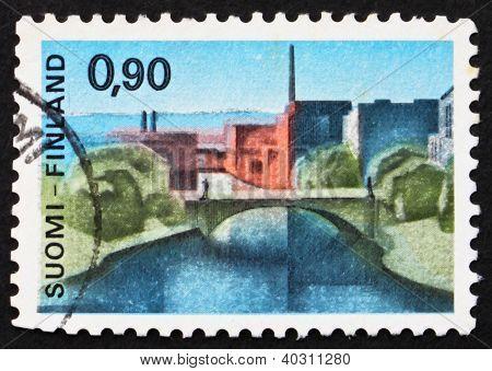 Postage Stamp Finland 1968 Hame Bridge, Tampere