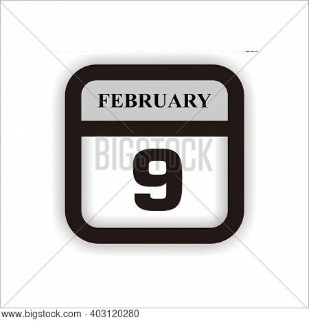 Calendar Icon 8 Isolated On White Background, Calendar Icon Vector Flat Modern, Calendar Icon, Calen