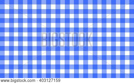 Bright Blue White Purple Checkered Background. Space For Graphic Design. Checkered Texture. Classic