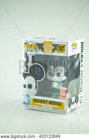 Samut Prakan, Thailand - January 13, 2021 : Funko Pop! Disney : Mickey Go Thailand Is A Special Proj