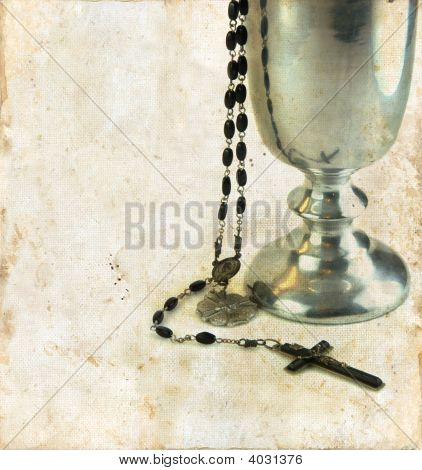 Communion Chalice And Rosary