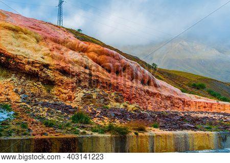Brown, Orange Sandstone, Which Formed Water, Water Still Flows Through It. Sort Of Karst Phenomenon