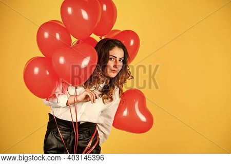 Birthday Party. Helium Balloons For Party. Girl Heart Balloons. Gift For Girlfriend. Festive Mood. H